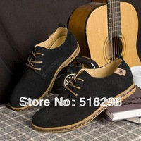 NEW 2014 Suede European style genuine leather Shoes Men's oxfords california casual Loafers, sneakers for Men Flats shoes,38-48