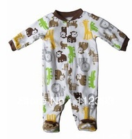 2014 New arrival Baby conjoined rompers Baby jumpsuit lovely Monkey design baby clothing Size 3M 6M original brand Free Shipping