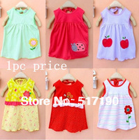 OMG 2013 Wholesale Randomly color Baby Girl princess candy color dress embroidered children's Style