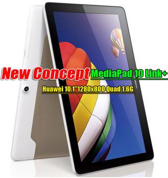 HUAWEI MediaPad 10 Link+ Tablet pc Quad core kirin 910 10.1 IPS 1280x800 6600Mha battery capacity  New Model Fast shipping