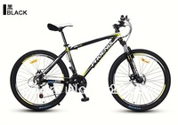 "front fork suspension 26"" mountain bike 21 speed bicycle 17 inch frame HARD TAIL cycling MTB 2disc brake height 165-180CM,2color"