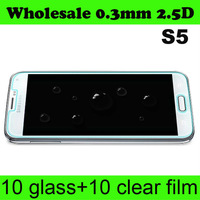 Wholesale Premium Tempered Glass Screen Protector Protective Film For Samsung Galaxy S4 i9500 With Retail Package 2.5D 9H 20pcs