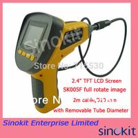 Ergonomic removable Tube 2m cable D10 mm full rotate image Endoscope Borescope  SK005F