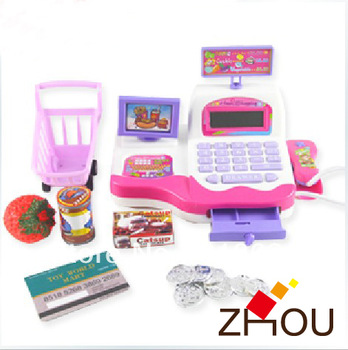 Music flasher supermarket cash register puzzle kids toys and wholesales available