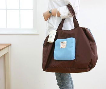 Free Shipping Poly Foldable Shopping Bag, Street Shopper Bag multifunctional shoulder bag