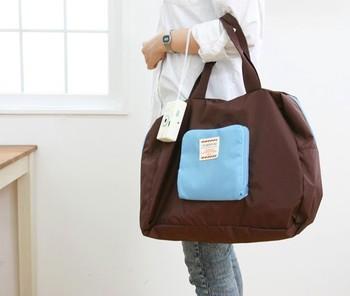 Free Shipping Poly Foldable Shopping Bag, Street Shopper Bag multifunctional shoulder bag