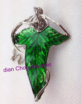 Freeshipping wholesale 20pc a lot elven leaf Hobbit Pendant necklace with Chian from the Lord of the rin gs BB011