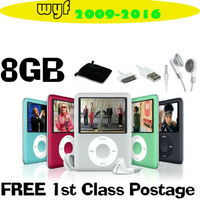 Big discount !8GB Slim Mp3 Mp4 Mp5 Player with LCD Screen, FM Radio & Movie Player + free shipping