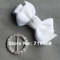 Hot Sale in Stock!100pcs/lot 21MM round metal rhinestone buckle wedding invitation card embellishment gift packing DIY accessory
