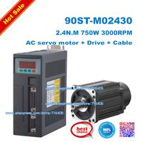 HOT SALE NEW 750W AC SERVO MOTOR 2.4N.M 3000RPM 90ST-M02430 0.75KW AC SERVO MOTOR & DRIVER SYSTEM 90ST M02430