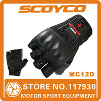 2015  Scoyco MC12D Motorcycle Half Finger Summer High Protective Shell Racing Gloves Motorbike Riding Protection Free Shipping