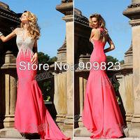 Tarik Ediz Sweetheart Silvery Beaded Crystal Shiny Top Bow Back Mermaid Blush Elegant Formal Prom Evening Gowns Dress