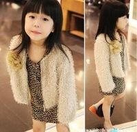 Free Shipping! 2013 new arrive children clothing set fashion girl (coat+dress) leopard print dress baby suits Wholesale GQT-091