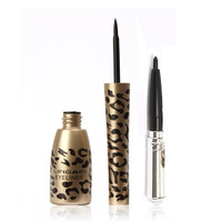 2 in 1 Waterproof Liquid Eyeliner Pen & Black Eye Liner Pencil Makeup Leopard