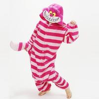 new 2014  Anime Cheshire Cat Cosplay Costume Animal onesie Pajamas Adult Pyjamas