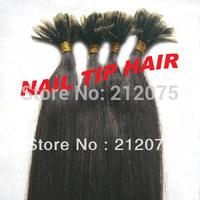 "12""-26""inches 4sets/lot  Keratin Nail Tip U-Tip Brazilian virgin straight human hair extension DHL Free shipping"
