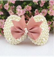 FREE SHIPPING!2014New Fashion  High Quality Pearl Bowknot hairpins hairgrip hair clip girl and women Hair Accessories