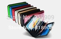 Hot selling drop shipping  trendy aluminium wallet free shipping worldwide