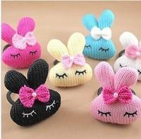 FREE SHIPPING 2014 New lovely rabbit elastic hair bands kids headband children hair accessories