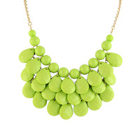 Fashion Design statement colorful beads Collar necklace