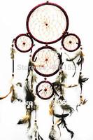 HOT!!! five circle beautiful dream catcher  3piece/lot ,black cocour , each pcs in opp bag ,Free shipping,Diameter:16cm-9cm-6cm