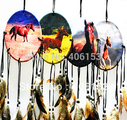 HOT!!! series of horse beautiful dream catcher 4pcs/lot ,4 items mixed , 4pcs in opp bag Free shipping(China (Mainland))