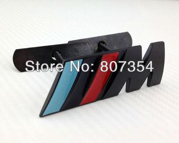 Excellent New 3D ///M Black Metal Front Grille car Sticker Badge For BMW m3 m5 X1 X3 X5 X6 E36 E39 E46 E30 E60 E92 car emblem