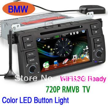 7inch HD Car DVD Player Radio Stereo GPS Navigation for BMW 3 E46 M3  IPOD TV WiFi 3G RMVB PiP Can-Bus SWC E-Book  KS1046
