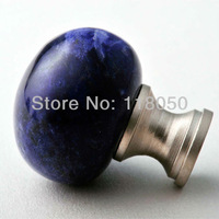 Natural Stone Furniture Hardware,30mm Blue Crystal Cabinet Knob Cupboard Door Knobs,Factory Price Drawer Handles,Free Shipping