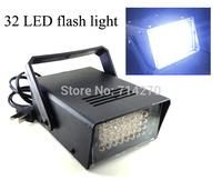32 LED Flash lamp Party Disco Mini Strobe stage Light DJ Flash KTV laser Lighting white color ,Dropshipping+ Free Shipping