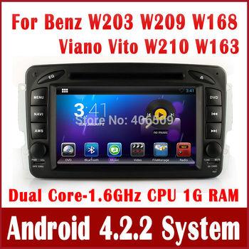 Android 4.2 Car DVD Player Radio GPS Navigation for Mercedes Benz W203 Vaneo Viano Vito CLK C208 C209 W208 W209 W210 w/ 3G WIFI