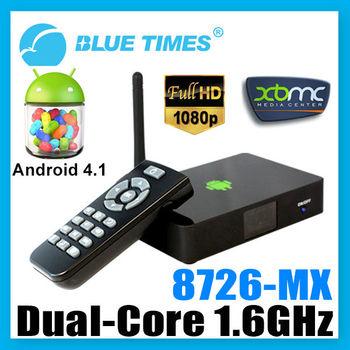 Bluetimes Cheapest Dual Core Android TV Box Pre-insatalled XBMC AMLogic 8726-MX Free Shipping