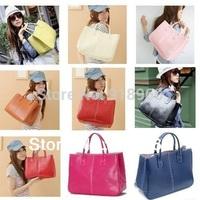 Fashion Elegant Women's Handbag/ Ladies Clutch Bag/ PU Bags /Shoulder bags Large Capacity  Concise 15 colors/BTW