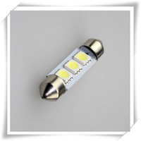hot selling 50pcs 41mm 3 SMD 5050 Indicator Light Car Interior Lamp Automobile Wedge LED Bulbs  12V