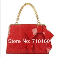 2013 Hot Selling Fashion PU leather brief designer women handbags totes ladies bags red wedding bride bags, free shipping