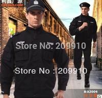 Free Shipping ! Security Men Pants Suit  Sets/ Training Uniform/  Security Uniform 2pcs /Cotton/ Satin Material M-3XL