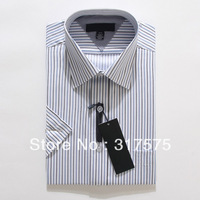 Free shipping 2013 new fashion Cotton cheap short sleeve Turn-down Collar Twill high-grade designer business dress shirt for men