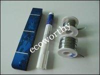 40pcs 17.6% efficiency 1X6 solar cell for DIY solar panel+ tab wire +bus wire +flux pen * !!!