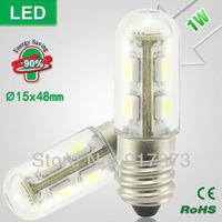 led cabinet light led fridge lamp 5050 SMD Lndicator Light Ultra-small Refrigerator Light Bulbs Desk Lamp 1W E14