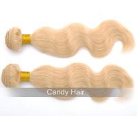 Top quality blonde brazilian hair 3 bundles lot unprocessed virgin hair extension 613 human hair weave wavy queen hair products