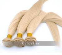 Top quality brazilian virgin hair 4 bundles lot 613 blonde virgin hair extension 100% human hair weave straight can be dyed