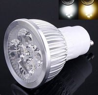 Free shipping 10pcs/lot  Dimmable High Power 4X3W 12W AC110-240V GU10 E27 E14 MR16 B22  LED Lamp Spotlight