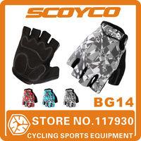 2014 Scoyco BG14 Bicycle Half Finger GEL Gloves Summer Mens Women Cycling Bike Riding Gear Brand Sport Accessories Free Shipping