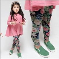 yy7 new 2014 casual 2-7 age girl legging colourful kids leggings girls tights 5pcs/ lot free shipping
