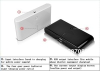 Mobile Power Pack  distributor 20000mAh powerbank 20000mAh With Retail Package mobile power charger,good quality,fast delivery