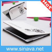 Newest Fashion concise style Dandelion Flip Stand PU Leather Case for iPad Mini Free Shipping