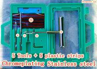 Car Tubeless Tire Repair Tools Stainless Steel 5 Plastic Strips Puncture Plug Repair Kit  Diagnostic tools Car styling Repair