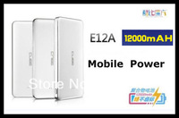 Cube E12A 12000mAh Mobile Power Bank  for Tablet PC, Iphone 5, Samsung mobile phones Free shipping