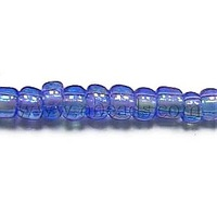 Stock Deals 12/0 Glass Seed Beads,  Trans.Colours Rainbow,  Blue,  about 2mm in diameter,  about 30000pcs/pound
