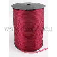 Organza Ribbon,  Darkred,  6mm wide,  500yd/roll